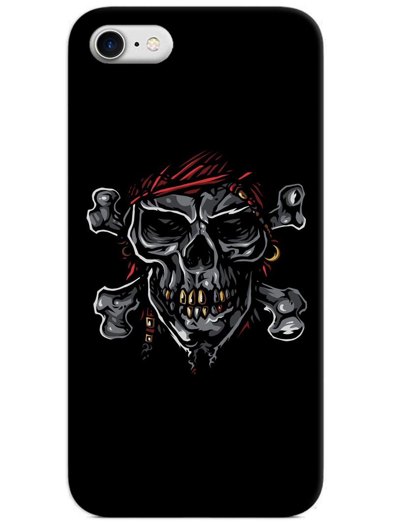 Black Skull iPhone 8 Case