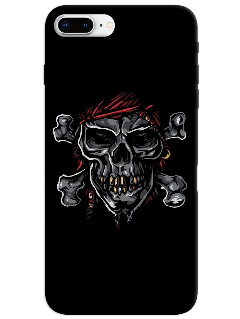 Black Skull iPhone 8 Plus Case