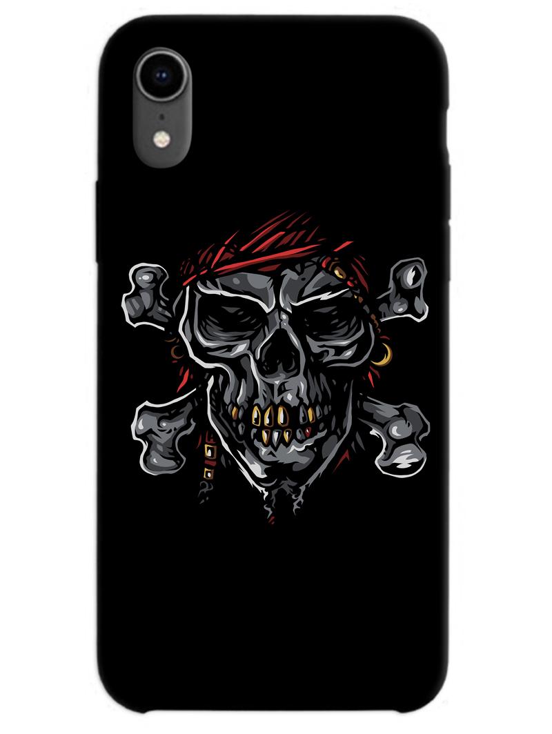 Black Skull iPhone XR Case
