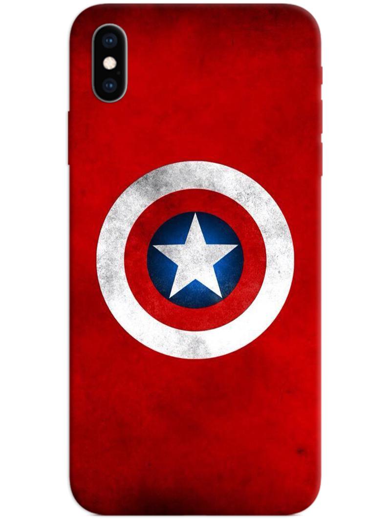 Captain America Logo iPhone XS Max Case