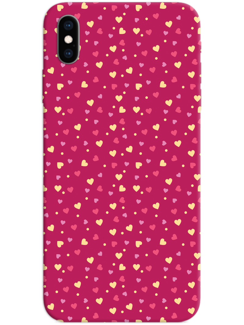 Pink Heart iPhone X / XS Case