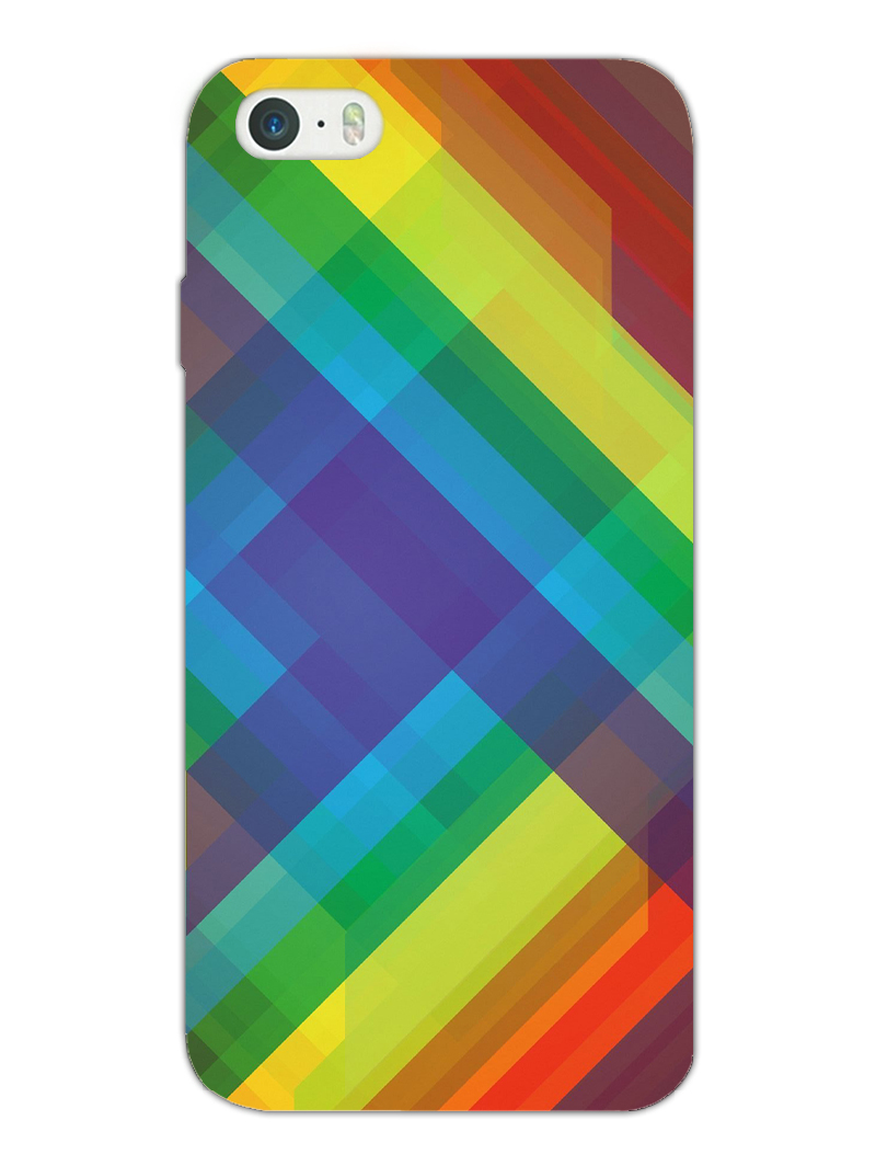 Colorful Checked Apple iPhone 5/5S/SE Case